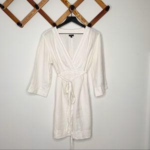TALBOTS white linen dress✨M
